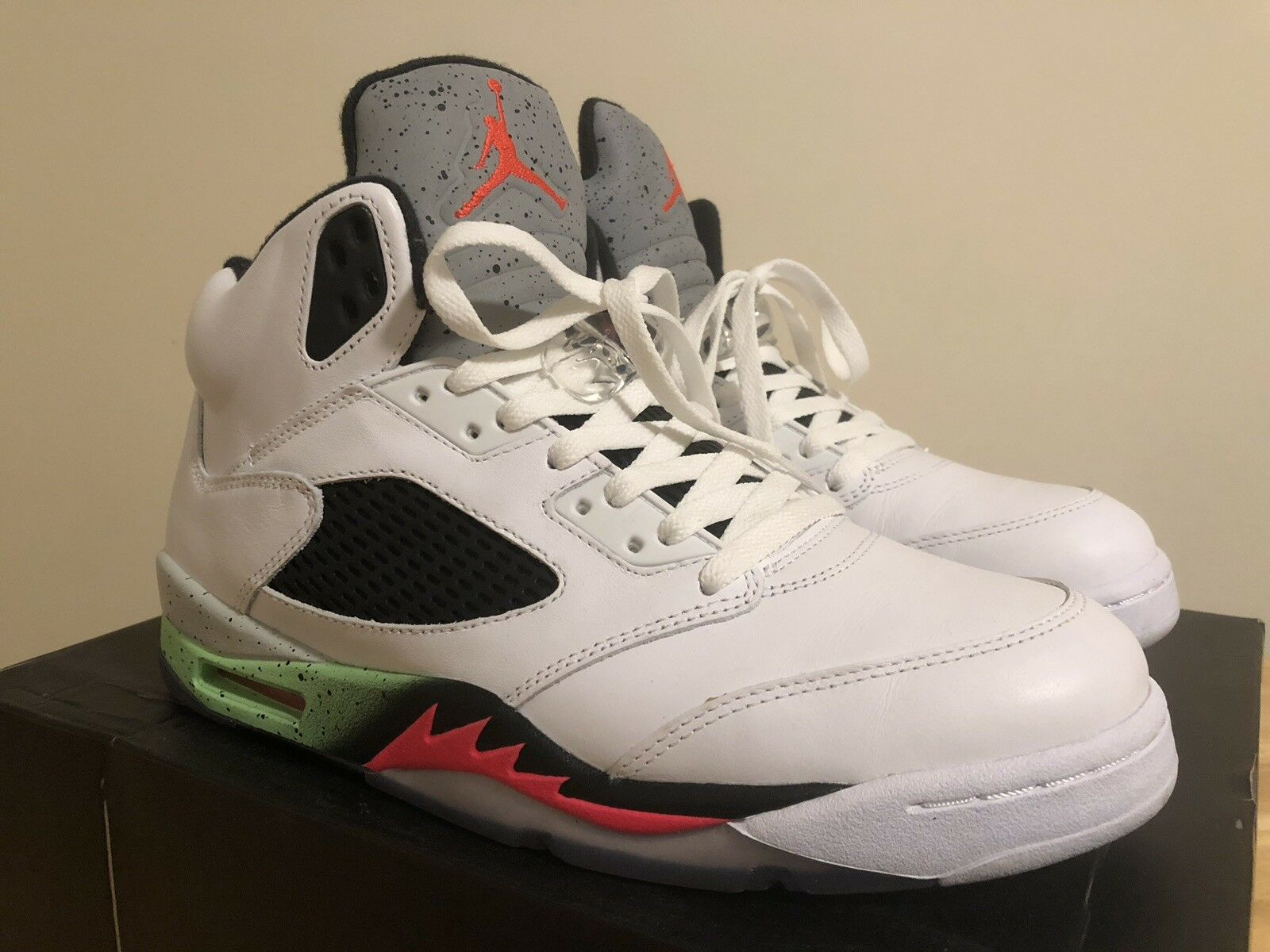 f5b2c63d116db Jordan Retro 5 Poison Green Size 10.5 Air nshmyh6133-Athletic Shoes ...