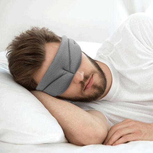 3D Sleep Mask Soft Memory Foam Contoured Eye Mask Cover For Men /& Women Travel