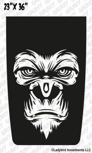Jeep Wrangler Blackout Hood Decal Gorilla Face Matte Black Sticker TJ LJ JK