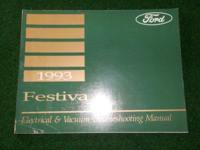 1993 Ford Festiva Electrical Wiring Diagram Manual Dealer