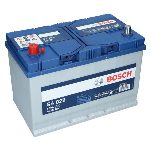 PKW Autobatterie 12 Volt 95 Ah Bosch S4 029 Starterbatterie ersetzt 90Ah 100Ah