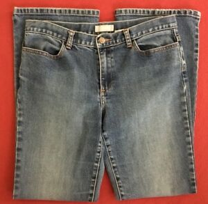 J-CREW-Boot-Cut-Stretch-Blue-Jeans-Womens-size-10