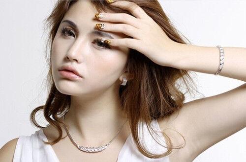 Fashion Women Pendant Chain Crystal Choker Chunky Statement Bib Charm Necklace