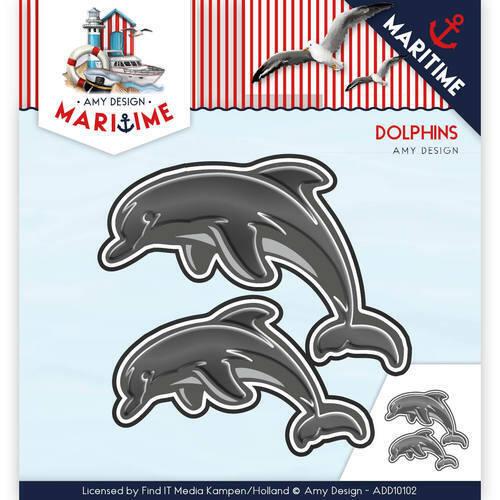 Les Dauphins//Dolphin-stanzschablone maritime collection de Amy Design add10102