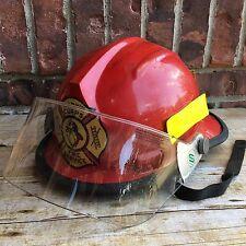 Bullard Marine Corps Fire Service Red Firefighter Helmet W/ Shield