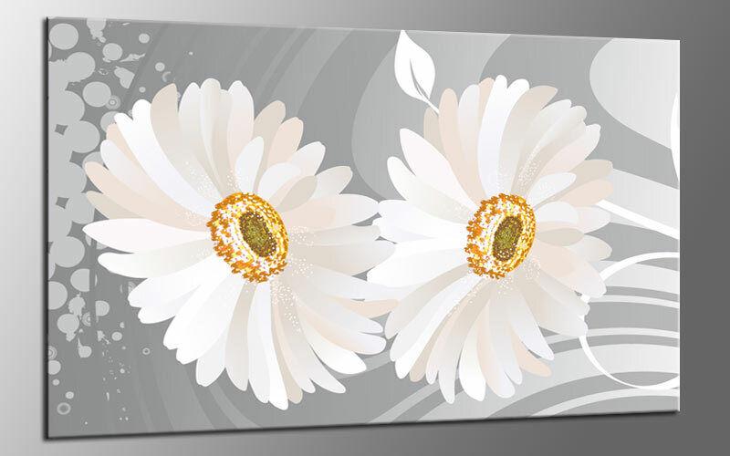 FLOWER Weiß STYLE LEINWAND BILD AUF Keilrahmen GRÖßE WÄHLBAR A01700 WANDBILD