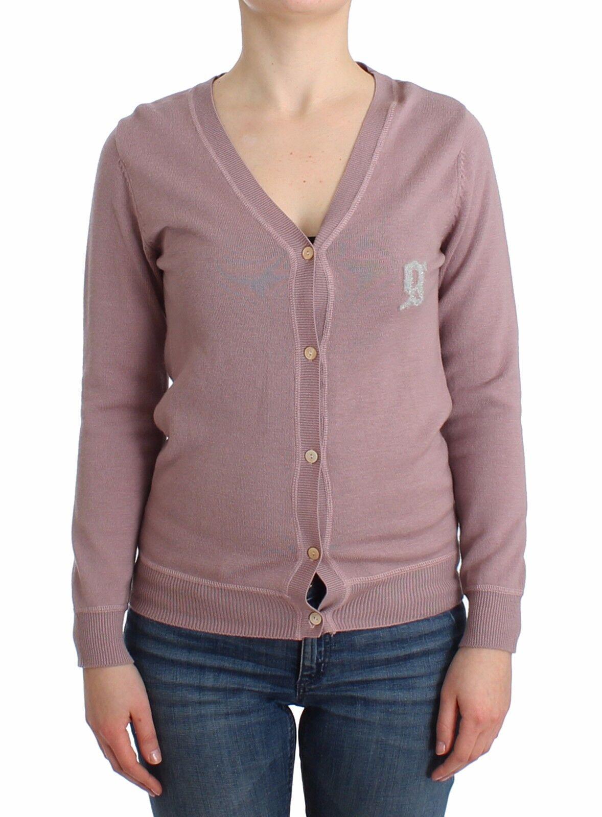 Neuf avec étiquettes JOHN GALLIANO Violet Col V Laine voituredigan chandail Knit XS 4 Us
