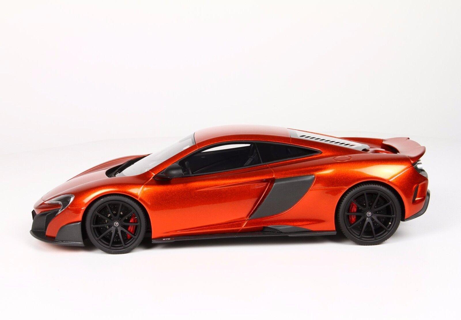 BBR McLaren 675LT Volcano orange 1 18 LE 20pcs Sällsynt färg Det är svårt att hitta