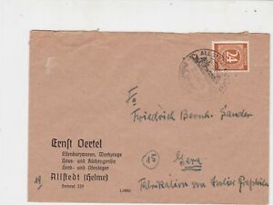 Germany 1946 Allied Occupation to Thuringia Allsted Cancel Stamps Cover Ref23231