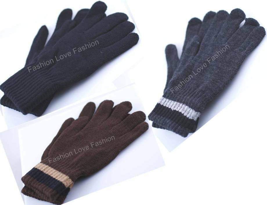 1 Pair Men's Boy's Winter,Working,Driving Knit Gloves Warm and Comfort