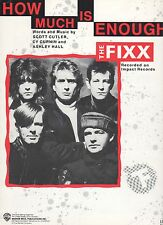 The Fixx  How Much Is Enough   US Sheet Music