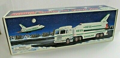 Vintage 1999 Hess Toy Truck and Space Shuttle with Satellite
