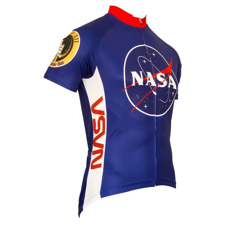 Retro NASA  Logo MEN'S Cycling JERSEY  Red white bluee full zipper short sleeve  all goods are specials