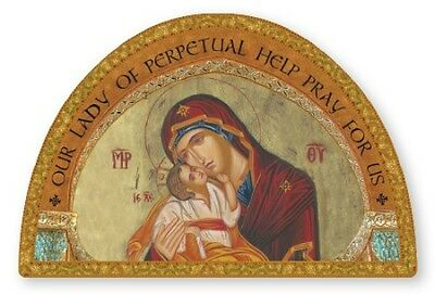 GOLD FOIL WOODEN PLAQUE PICTURE STATUES ALSO LISTED OUR LADY OF PERPETUAL HELP
