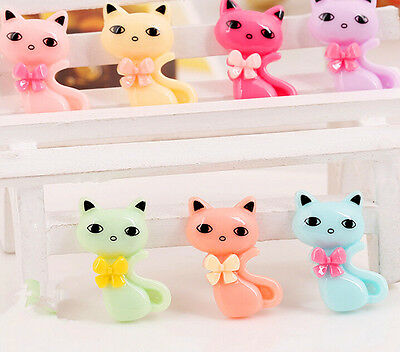 15pcs DIY decoration Cartoon flatback Kawaii Animal Decoden Resin Cats cabochon