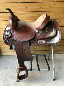 "15"" Crates Western Pleasure Show Horse Saddle FQHB Made in USA"
