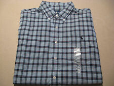 $65 MSRP Men's Large Ralph Lauren Polo Button Down Dress Shirt short sleeve NEW