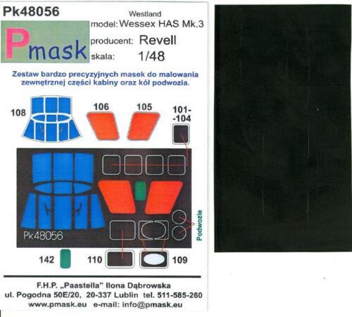 Model Maker 1//48 WESTLAND WESSEX HAS Mk.3 Helicopter Paint Mask Set for Revell