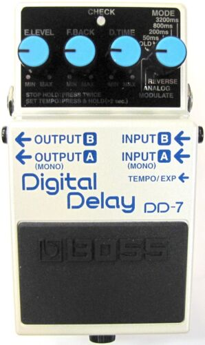 Used Boss DD-7 Digital Delay Guitar Effects Pedal