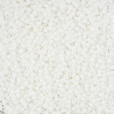 8-9  grams 2.5 Tube Opaque Rainbow White TR-11-401c ~ Japanese Seed Beads ~ approx TOHO Round 110