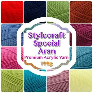 Stylecraft-SPECIAL-ARAN-Weight-Premium-Acrylic-Knitting-Crochet-Wool-100-gram