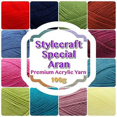 Stylecraft Special ARAN Knitting Wool 1023 RASPBERRY Yarn 100g