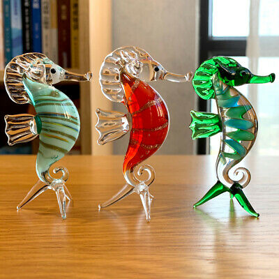 Clear Crystal Goat Sheep Figurines Glass Animal Paperweight Xmas Kids Gift Decor