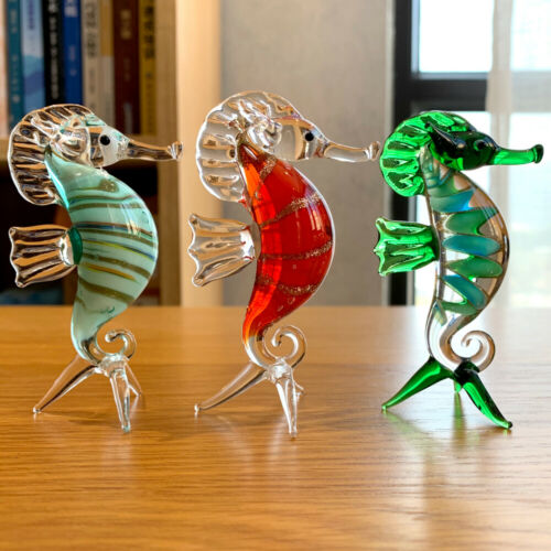 Crystal Sea horse Animal Figurines Paperweight Glass Craft Home Decor Kids Gifts
