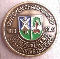 """2000  BRITISH OPEN 1"""" COIN CREATIVE USA GOLF BALL MARKER - ST ANDREWS  OLD LINKS"""