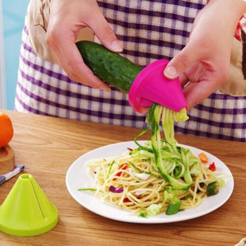 Fruit Vegetable Spiral Shred Process Device Cutter Slicer Peeler Kitchen Tool CD