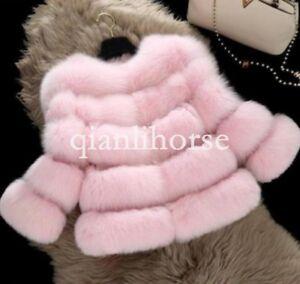 Winter-Short-Coat-Real-Thicken-Fox-Soft-Fur-Jacket-Pink-White-Blue-XL-2XL-3XL