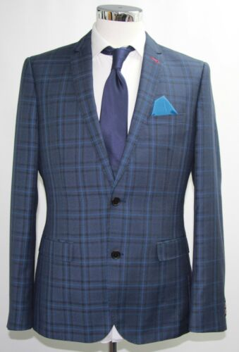 Blue 3350 40r Check 3pc Suit Sample Men's dwx68qYzd