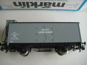 "Marklin H0 4680-90701 ""Voith Heidenheim"" Wagon w/ brakeman's cab NIB"