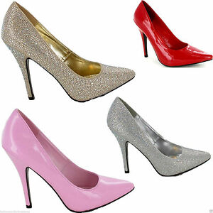 Ladies-Unisex-Drag-Queen-Cross-dresser-High-Heel-Platform-Court-Shoes-sizes-3-12