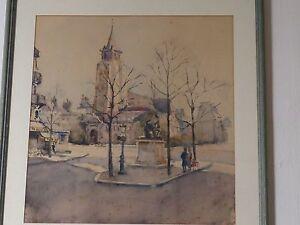 Aquarelle, Paris, Place St Germain Des Prés, Café Des Deux Magots Keexfstd-10123021-170043970