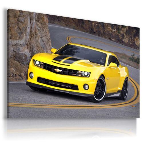 CHEVROLET CAMARO YELLOW Cars Large Wall Art Canvas Picture AU154 MATAGA .