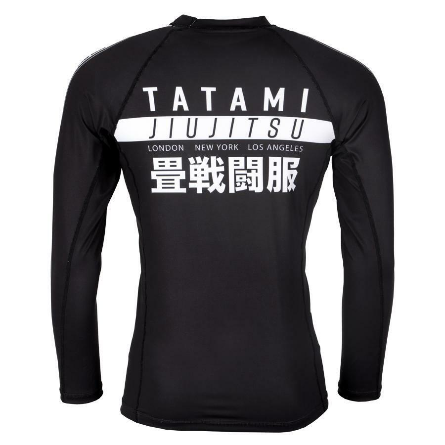 Tatami Tatami Tatami Weltweit Jiu Jitsu Langärmlig Rashguard Schwarz Bjj No-Gi Jiu Jitsu Mma dcacf9