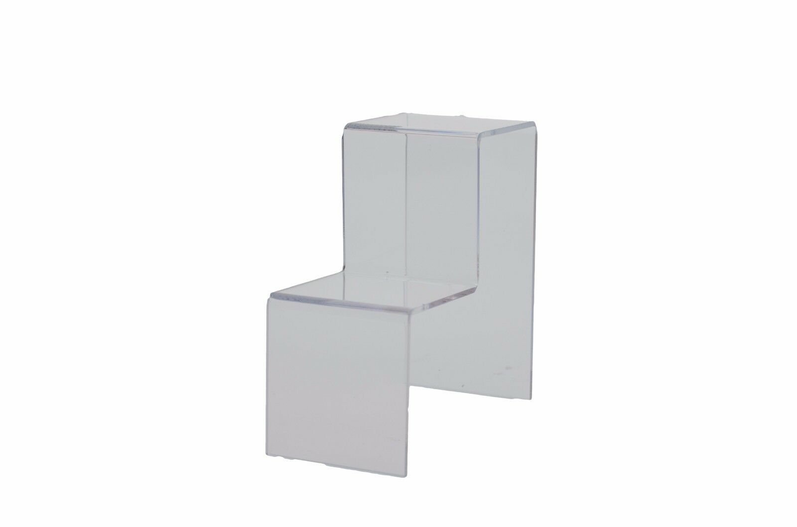 Lot of 12 Clear Acrylic 2 Tier Counter Top Riser Stand