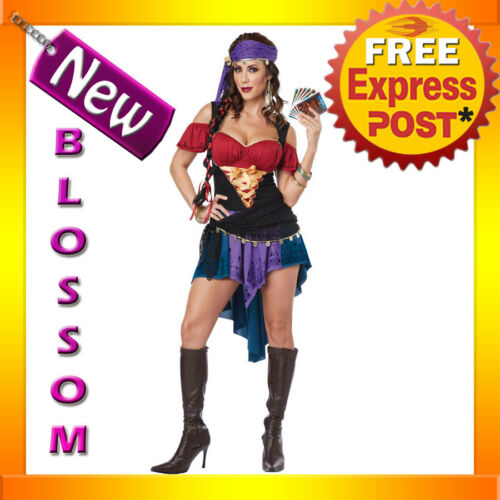 C808 Exotic Gypsy Tarot Card Fortune Teller Adult Fancy Dress Costume Cosplay