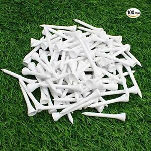 Golf-Tees-Wood-Wooden-Professional-Tee-54MM-White-Color-100-Pack-High-Quantity