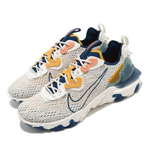 Nike React Vision D/MS/X Light Orewood Brown Coastal Blue Yellow Men CD4373-103
