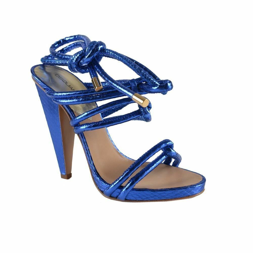 DSQUArojo Azul envoltura alrojoedor y correa en el tobillo Sandalias Zapatos