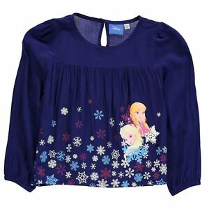 DISNEY-blouse-top-LA-REINE-DES-NEIGES-2-3-3-4-4-5-5-6-7-8-9-10-11-12-13-ans