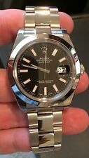 Rolex NIB 116300 41MM SS Datejust II 2 Black Index Dial box/papers $7,150 Retail