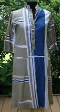 Vtg Womens Catherine Ogust Penthouse Gallery Dress Sz S Forever Abstract Caftan