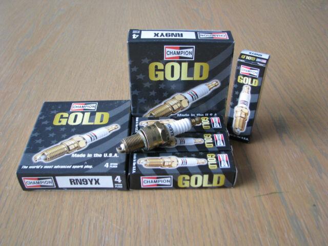 DAEWOO CIELO KARLOS LANOS 1.5L SOHC RN9YX Champion GOLD Spark Plugs x 4
