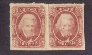 CSA #8 FULL GUM HORIZ PAIR SCARCE AND BEAUTIFUL COLOR! cats $160+ Confederate