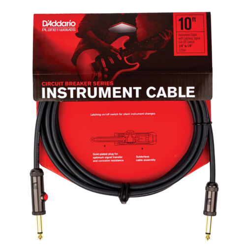 Planet Waves PW-AGL-15 Latching Circuit Breaker Instrument Cable,Straight-15 ft