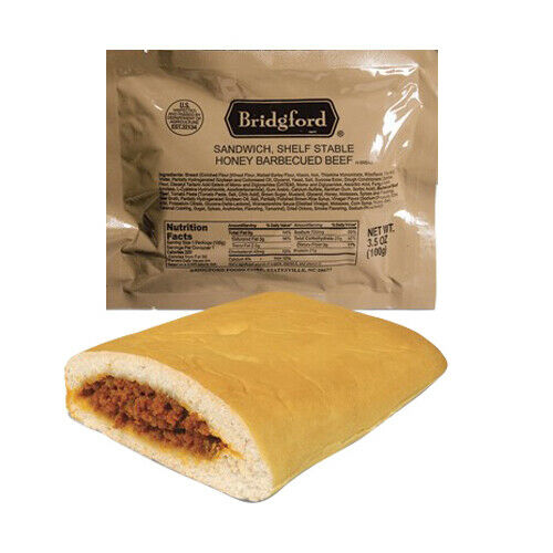 BBQ Beef 3 Pack MRE Survival Desert Ready to Eat meals by Bridgford MREs