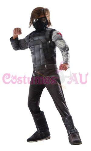Licensed Kids Deluxe Captain America Winter Soldier Costume Avengers Boys Child